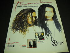 MILLI VANILLI Frank Farian and others who made world wide success 1989 PROMO AD