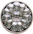 "LED 4"" FRONT,PARK,TURN LAMP 15 LEDs - AMBER/CLEAR   FREIGHTLINER  PETERBILT   KW"