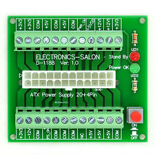 Electronics-Salon 24/20-pin ATX DC Power Supply Breakout Board Module