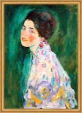 Porträt einer Dame Spätwerk Jugendstil LW Secession Gustav Klimt A2 013