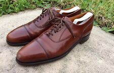 Vintage Cole Haan Made in England  Brown Casual Dress Cap Toe Oxfords Size 11C