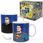 New DC Comics Clark Kent To Superman Heat Changing Mug Coffee Retro Official