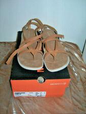 Merrell Womens Duskair Seaway Post Thong Flops Leather Sandals SZ 11 M Tan
