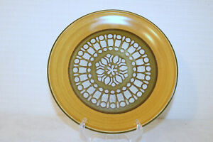 """PREMIERE GANO P9201 Made in Japan Dura Stone Green Tan Gray 10 5/8"""" Dinner Plate"""