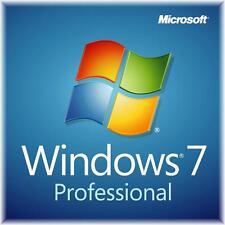 Windows 7 Professional 64 bit SP1 full install DVD & license key & RAM