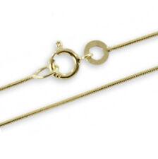 Schlangenkette Gold 333 40 cm 0,7 mm Kette Schmuck Kinder Kommunion Taufe Neu