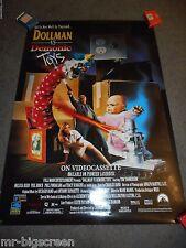 DOLLMAN VS. DEMONIC TOYS - ORIGINAL ROLLED HOME VIDEO POSTER - TIM THOMERSON
