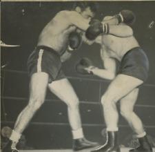 Marcel Cerdan boxing  Vintage  Tirage argentique  17x17  Circa 1948