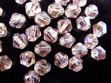 50pcs Lt Rose AB Glass Crystal Faceted Bicone Beads 8mm Spacer Jewelry Findings