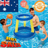 Childrens Inflatable Floating BasketBall Hoop Ring Toss Game Swimming Pool Toy *