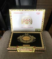 2x Cigar Boxes: Macanudo Crystal Cafe Box & Flor De Tabacos Black Label Vintage