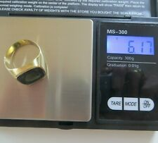 Herren Siegel - Ring  mit Turmalin Gold 333. Punze 333 / JPK/ 256. Ring Gr. 66.