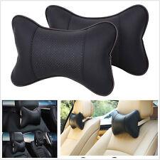 2x PU Car Headrest Neck Pillow Seat Cover Head Neck Rest Cushion Headrest Pillow