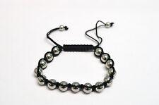 Bracelet nylon et bille acier de 8mm, bikers,mode,rock,gothique,métal, punk