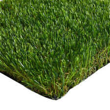 34mm Durable Artificial Grass Quality Realistic Fake Lawn Astro Turf 2m & 4m