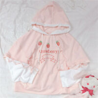 Japanese Sweet Mori Girls Kawaii Strawberry Hoodie Long Sleeve Small Fresh Coat