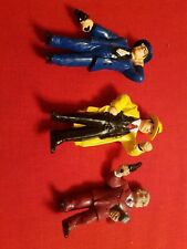 3 Dick Tracy Rubber Figurines