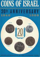 Coins of Israel 20th Anniversary 1948-1968 Specimen Set Jerusalem 6 Coin