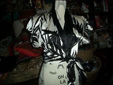 FLORA KUNG Wild Zebra Print Silk Blouse Size P
