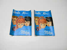 Vintage 1962 Barbie Ken Midge Fashion Fashion Booklets/Catalogs Printed in Japan