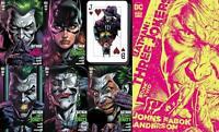 BATMAN: THREE JOKERS #2 (3 Jokers)  set OF 6 PREMIUM COVERS -1:25 Cards too!