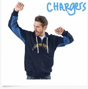 j NFL Hands High Game Day Fleece Hoodie Team Logo Under Arm Jacket Full Zip Mens