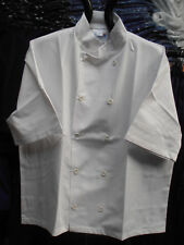 """White Chef Jackets with Short Sleeves – 100cm (40"""")"""