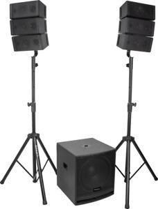 IBIZA LINE ARRAY Aktiv PA Anlage Lautsprecher Set Subwoofer DJ EVENT PARTY USB