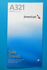 AMERICAN AIRLINES SAFETY CARD--AIRBUS 321