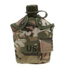 Outdoor Military Camping Army Water Bottle Canteen Cup Pouch - CP Camo