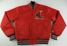 Vintage Starter MLB St.Louis Cardinals ButtonUp Satin Jacket Size Mens Medium M