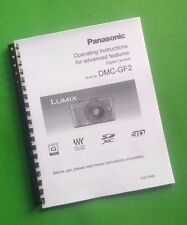 LASER PRINTED Panasonic DMC-GF2 Camera 218 Page Owners Manual Guide