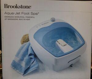 BROOKSTONE Heated AQUA JET FOOT SPA Heated Whirlpool Soak Machine in BOX!