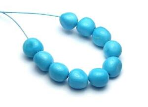 10 pcs SLEEPING BEAUTY TURQUOISE 6mm Semi-Round Nugget Beads NATURAL COLOR