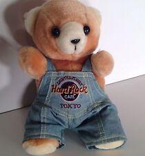 Hard Rock Cafe Tokyo Bear Japan Save the Planet Denim Overalls 8 inch Plush
