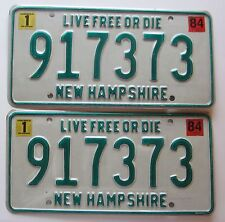 New Hampshire 1984 License Plate PAIR HIGH QUALITY # 917373