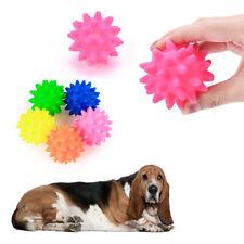 1pc vinyl pet dog squeaker squeaky sound ball toys pet supplies 6.5cm randomly O