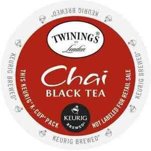 Twinings Chai Black Tea 24 to 144 Count Keurig Kcups Pick Any Size FREE SHIPPING