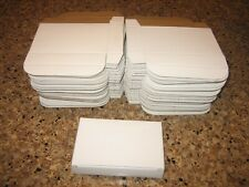 """QTY 75 SMALL WHITE BOXES GIFT BOX LOT ~ 5"""" X 3 1/4"""" X 1"""" PERFORATED WITH LID"""