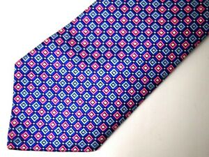 Brooks Brothers Boys Necktie Tie Blue Pink Checkered Stain Resistant