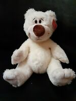 "VTG w/ Tags Gund ""Sidney"" Bear~ Stuffed Animal~ Plush Creamy White Teddy~ #15352"