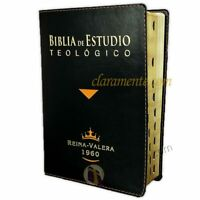 Biblia de Estudio Teologico Reina Valera 1960 piel fabricada con indice