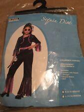 Ragazzi Ragazze Oro Lustrini 1970s Discoteca Tuta Costume Outfit 3-12 anni