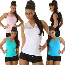 Ärmellose hüftlange Damenblusen, - tops & -shirts ohne Muster für Party-Anlässe