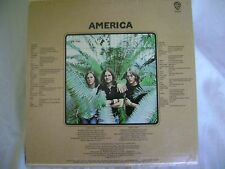 "AMERICA, LP, ""AMERICA"", WARNER BROS, # BS 2576"