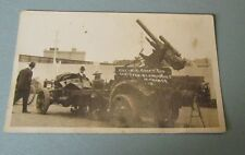 WWI Anti Aircraft Gun Captured By Americans In France RPPC Real Photo Postcard