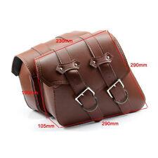 2X Universal Motorcycle Saddle Bag Side Storage Rider Pannier Luggage BROWN PE