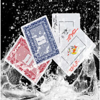 Cards Poker Playing Waterproof Plastic Game Pvc Foil Gold Black Magic Table 24k