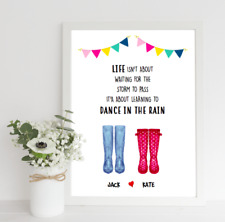 Personalised Valentines Print! Valentines Wellies Print! Couples Welly Print!