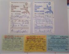 Vintage Illinois Hunting Licenses